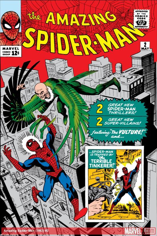 Capa de THE AMAZING SPIDER-MAN #2, maio de 1963. Imagem: Divulgação.