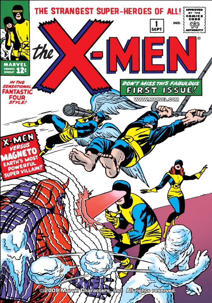 Capa de X-MEN #1, setembro de 1963. Imagem: Divulgação Marvel Comics.