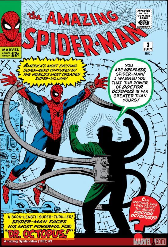 Capa de THE AMAZING SPIDER-MAN #3, julho de 1963. Imagem: Divulgação.
