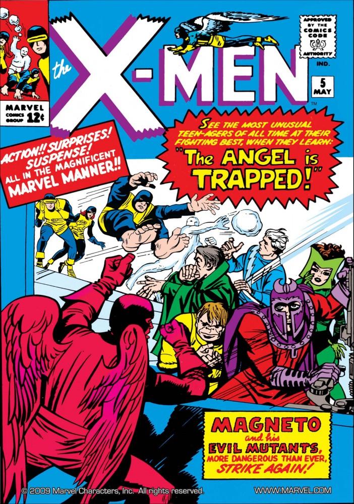 Capa de X-MEN #5, maio de 1964. Imagem: Divulgação Marvel Comics.