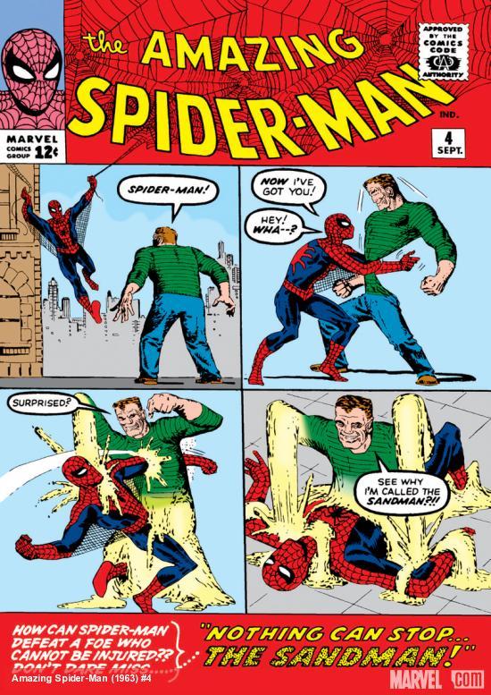 Capa de THE AMAZING SPIDER-MAN #4, setembro de 1963. Imagem: Divulgação.