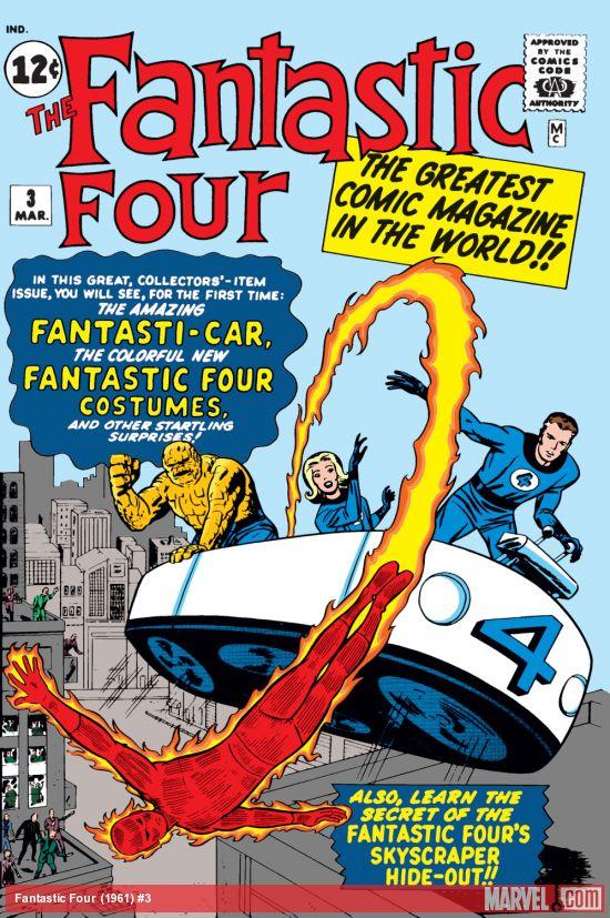 Capa de FANTASTIC FOUR #3, março de 1962. Imagem: Divulgação.