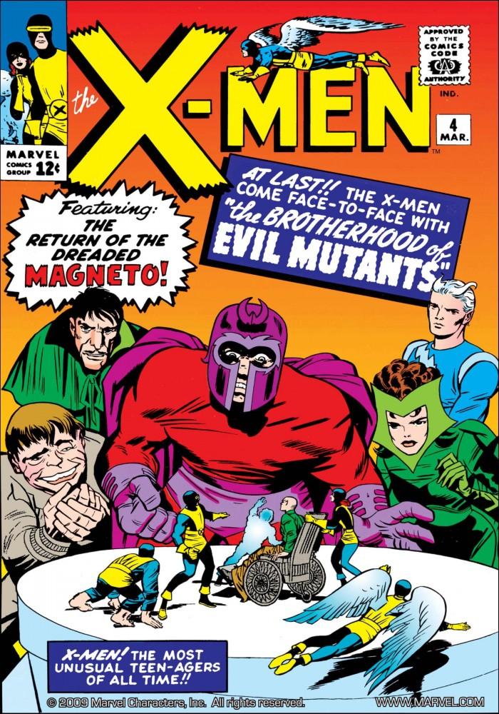 Capa de X-MEN #4, março de 1964. Imagem: Divulgação Marvel Comics.