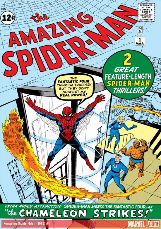Capa de THE AMAZING SPIDER-MAN #1, março de 1963. Imagem: Divulgação.