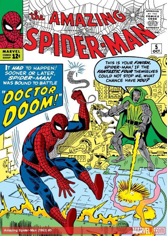 Capa de THE AMAZING SPIDER-MAN #5, outubro de 1963. Imagem: Divulgação.