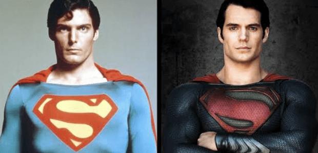 Superman de 1978 e de 2013.