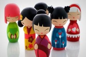 As Bonecas Kokeshi