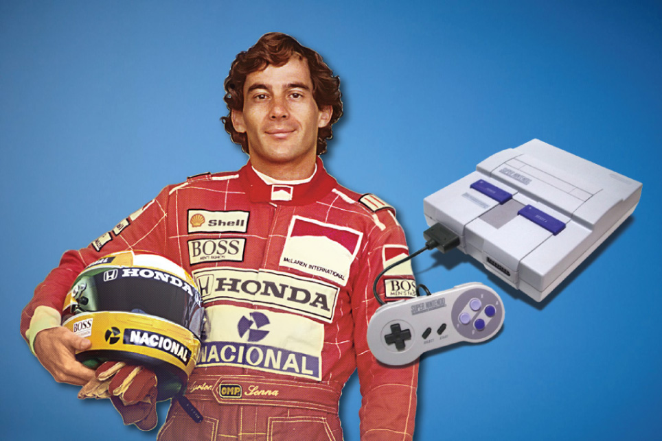 Ayrton Senna do SNES!